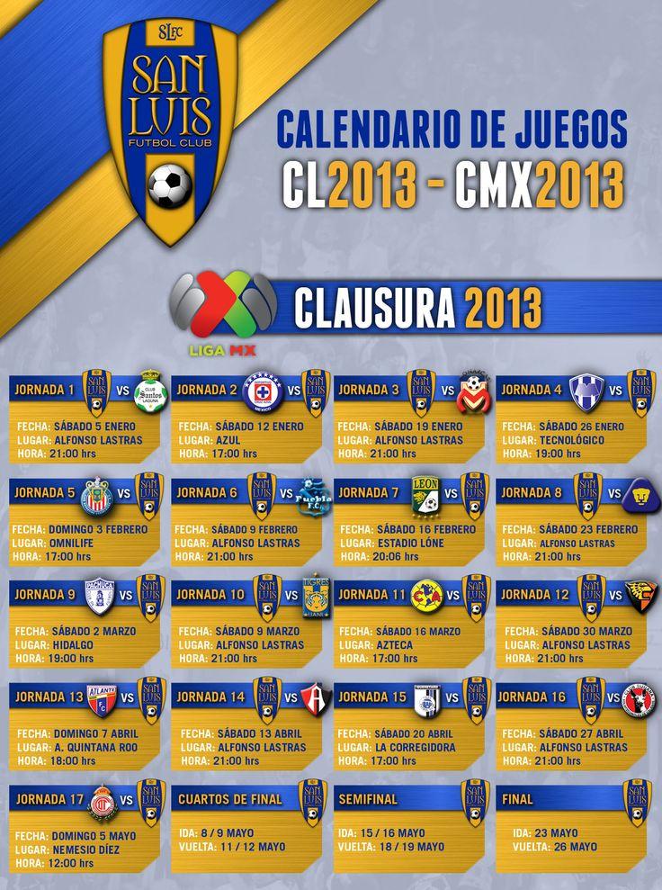 Calendario y puntos de venta para los partidos del San Luis FC en el torneo de clausura 2013