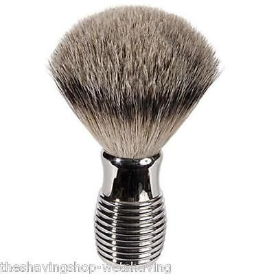 Shaving Brushes and Mugs: Luxury Badger Shaving Brush W Nickel Plated Handle -> BUY IT NOW ONLY: $65 on eBay!