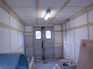 Insulation Install On Grumman RV Converted VansStep VanCamper Conversion InsulationShelterRvTrucksMotorhomeShelters