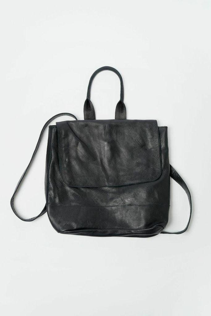 Leather Room Backpack - Black