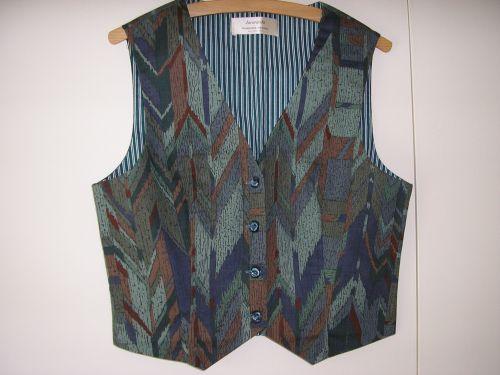 Geometric Green/Blue Ladies Waistcoat 10-12