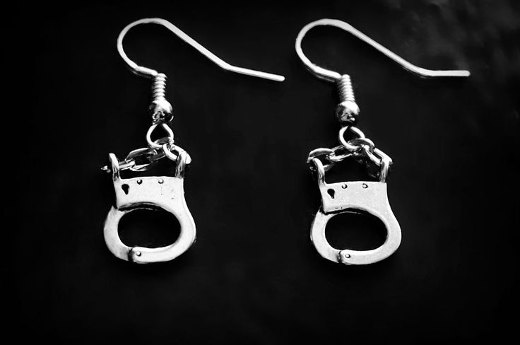 BDSM earrings handcuffs jewelry cuffs submissive dominant gift for women kinky #Handmade #bdsm
