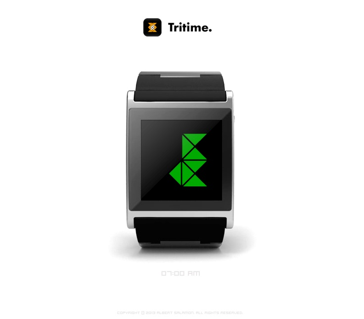 Tritime - watchface clock app for I'm Watch.