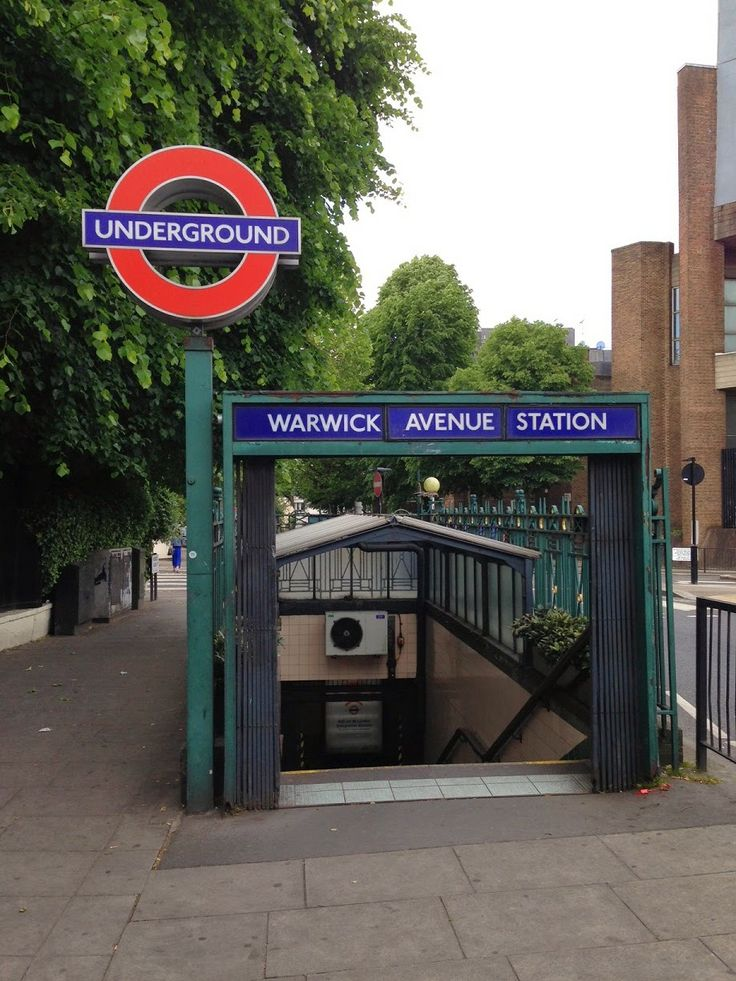 Urban Wandering - entrance to Warwick Avenue tube station, London #psychogeography