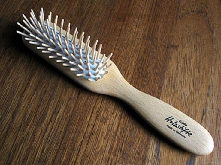 Wooden hair brush instead of plastic