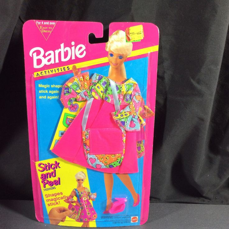 NEW BARBIE DOLL 1994 FASHIONS ACTIVITIES STICK AND PEEL PINK FASHION  #11937 #Unbranded