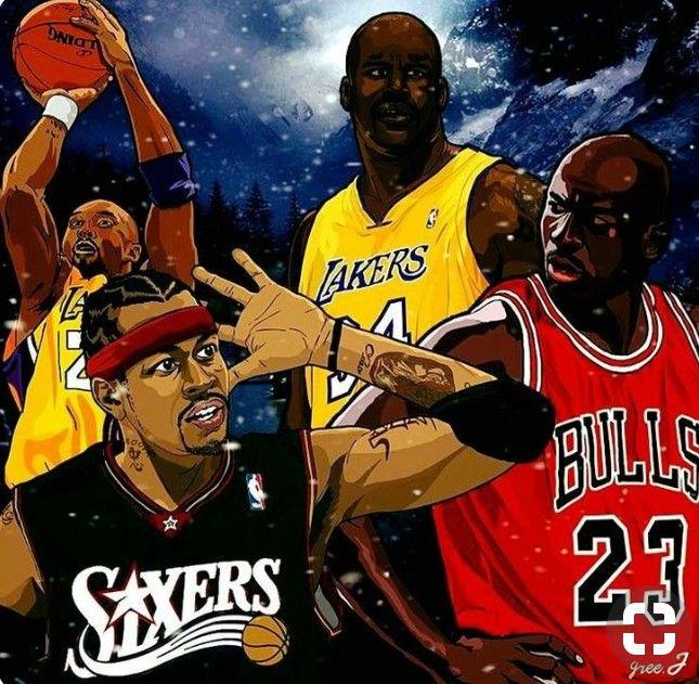 Kobebryant Bryant Kobe Blackmamba Losangeleslakers Losangeles Lakers Nba Shaq Shaquilloneal Oneal All Nba Basketball Art Nba Art Basketball Players