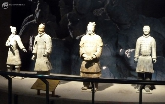 A few examples of terracotta warriors on display...