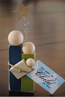 Süße Holzblockkrippe! Selbstgemachtes Weihnachtsgeschenk, das sicherlich ei …   – Women's Christmas Gathering