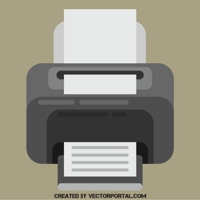 Printer flat design icon