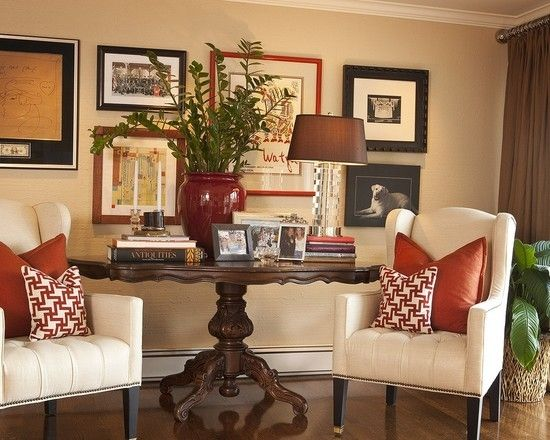 Love the size of the table, put the one behind your desk in front of the window (push your couch back) and add chairs on each side !!!