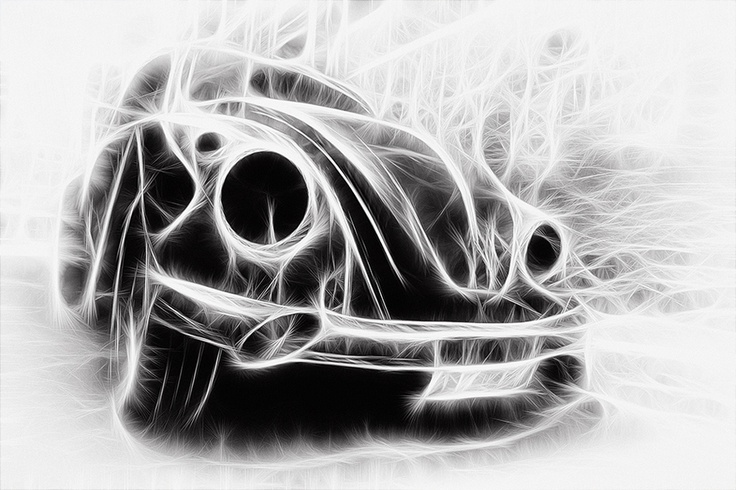 Line Art Effect Photo : Cool quot line art effect on this vw beetle vdub luv