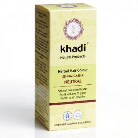 Henna Neutră - Vopsea de păr pentru strălucire, Khadi