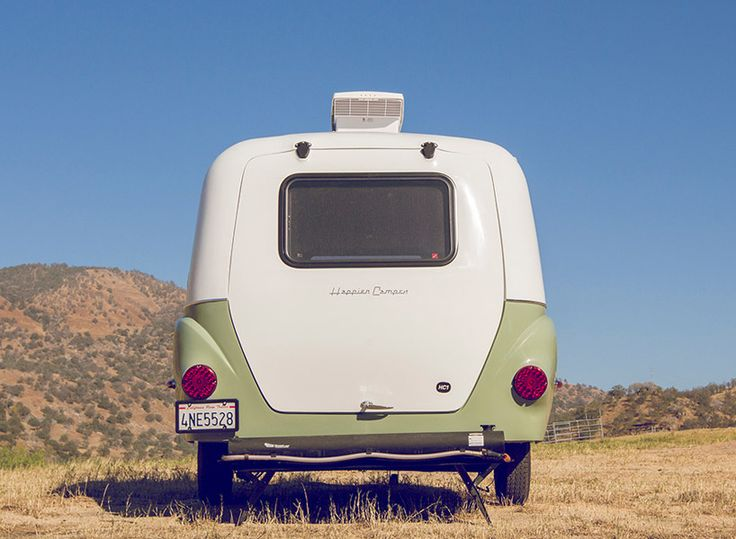 happier camper is a VW minibus-inspired trailer with a modular interior