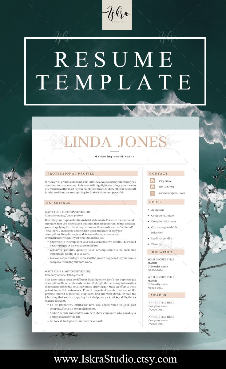 Mejores 34 imágenes de @ JOBS Resume Designs en Pinterest ...