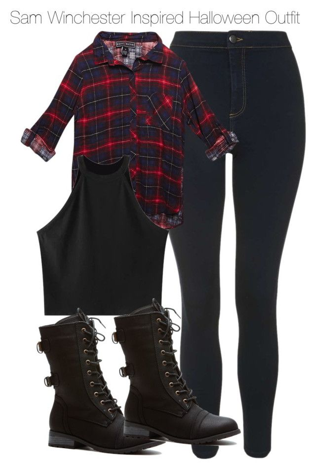 """""""Sam Winchester Inspired Affordable Halloween Outfit"""" by staystronng ❤ liked on Polyvore featuring Topshop, Wet Seal, Chicnova Fashion, Halloween, affordable, autumn, samwinchester and spn"""