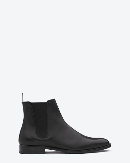 Signature Saint Laurent  Chelsea boot in black leather