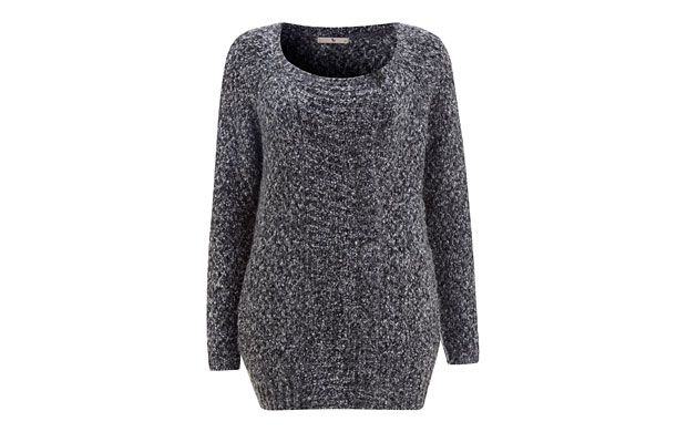 "Speckled Chunky Knit. ""Stay cosy on wet weekends in this speckled chunky knit jumper."""