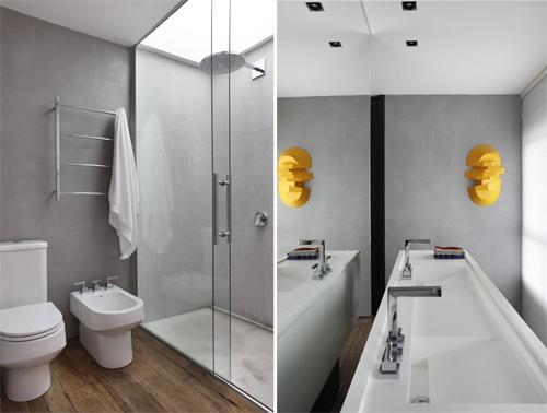 Arkkitehti Guilherme Torresin suunnittelema kattohuoneisto Sao Paulossa, Brasiliassa.