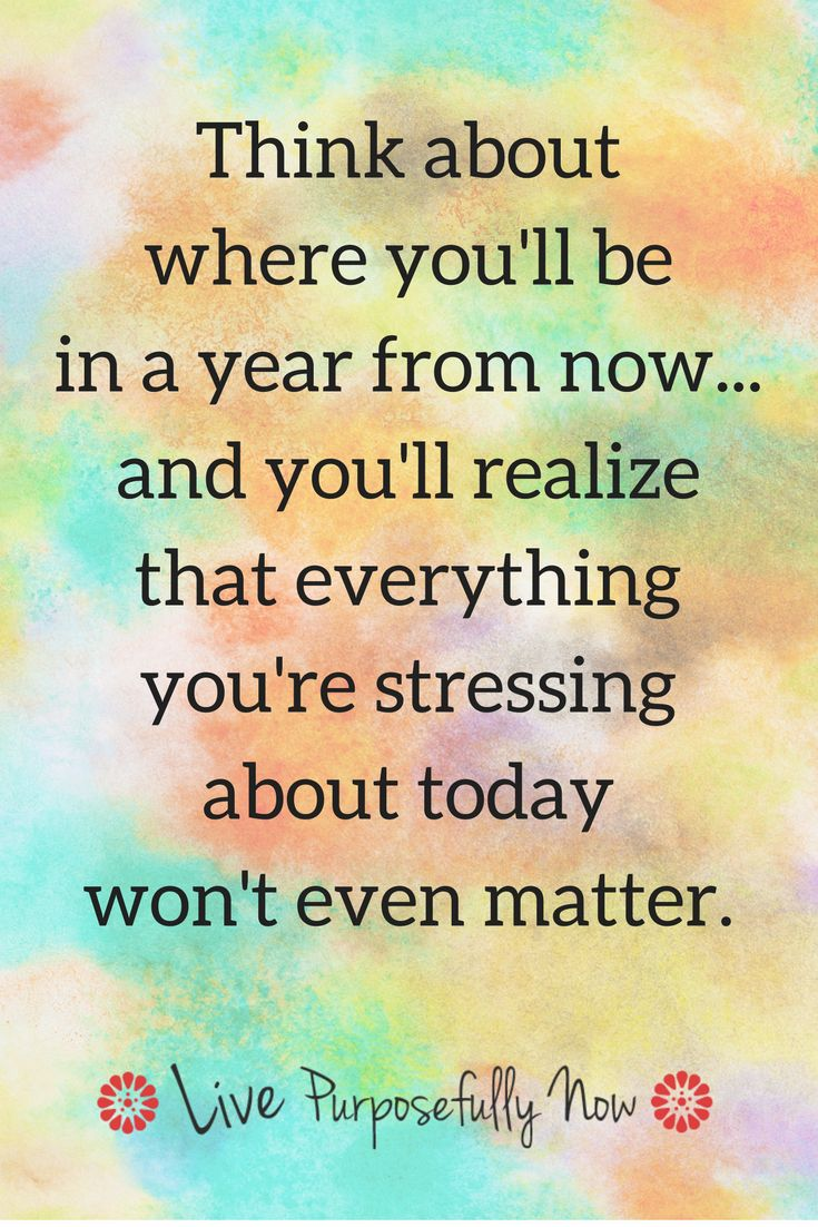 Stress isn't cause by some outside event, we do that all on our own.  Time to stop making ourselves sick with stress.