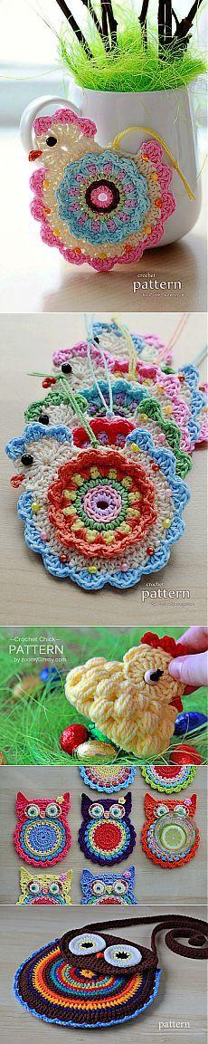 Crochet Circular: bonito pequenas coisas para o conforto de nossa casa de ZoomYummy