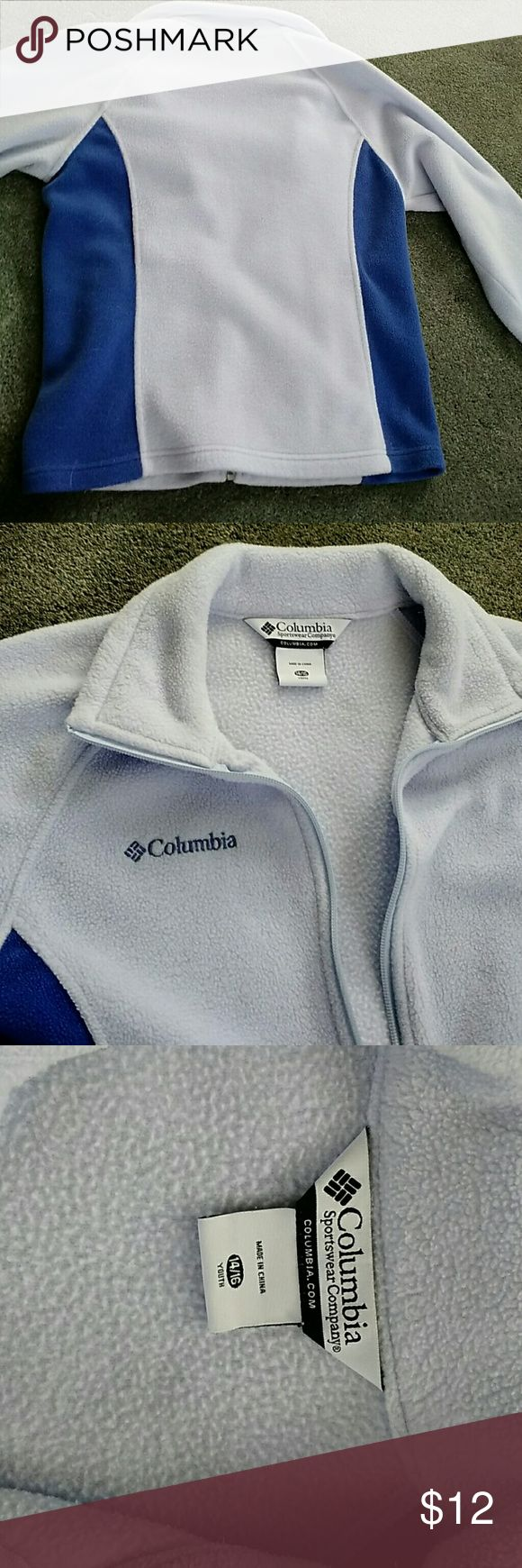 Columbia jacket Lavender with side slimming panels. Tag says youth 14-16 but easily fits ladies size small. Will send measurements if requested. Side zip pockets. Plushy soft. Wear as work out wear or on a casual day. With leggings or jeans. With a Cami underneath or a T-shirt. Columbia Sweaters Cardigans
