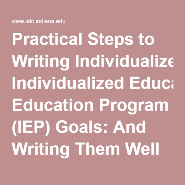 individualized education program 2 essay What is the individuals with disabilities education act what is an individualized education program (iep) 2 what is an individualized family service plan (ifsp.