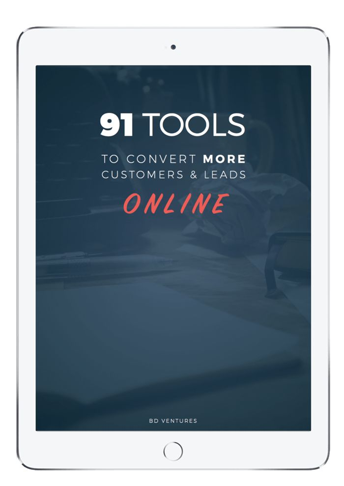 I've just compiled a library of my top-performing marketing and sales tools for 2017... I've used these exact tools to generate millions of dollars in revenue for my clients. (not to brag, but they work).  Scroll through this FREE library of 91 marketing and sales tools that you can use for your business: http://briandownard.com/91-tools/