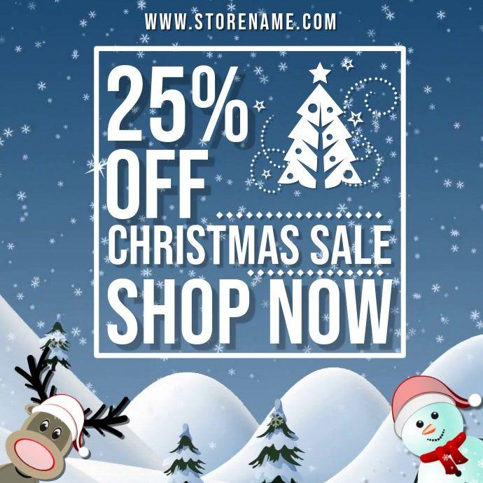 Christmas Event Jingle Bells Audio Video Template Sale Poster Christmas Sale Custom Flyers