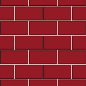 CERAMICA TILE RED BRICK WALLPAPER FD40138 KITCHEN BATHROOM | eBay