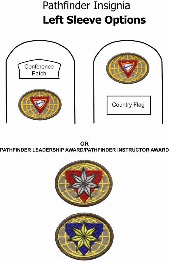 pictures of sda pathfinders honors   Pathfinders » Uniform Specifications » Left Sleeve - Other Options
