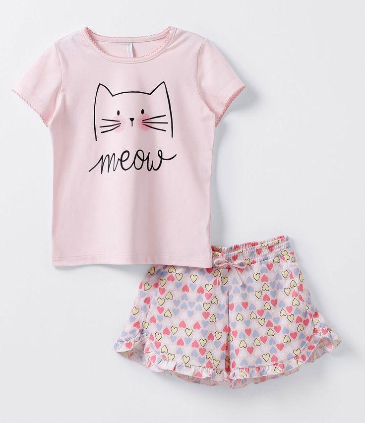 Pijama Infantil Estampado - Tam 4 a 14 anos - Lojas Renner