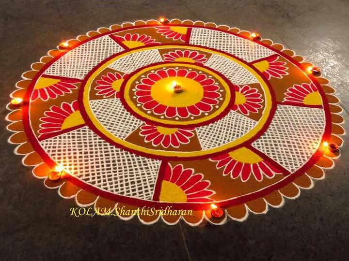 Circle shape rangoli