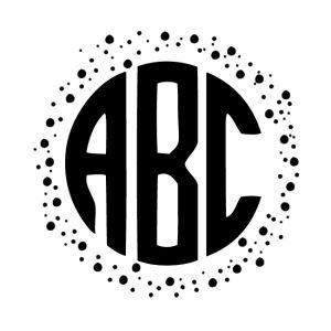 Circle Monogram Font (Free)