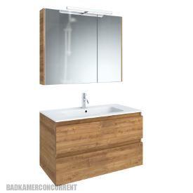 Leava Caspe/Valleta badkamermeubel met spiegelkast CAS10A020924