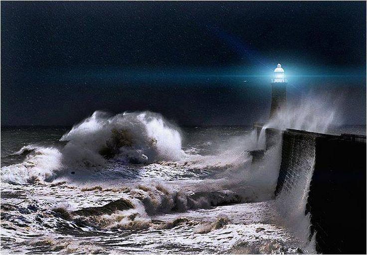 Spanish lighthouse good night | Weather Storms | Pinterest