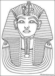 Color the famous mask of Pharaoh Tutankhamun.  www.realegypt.com