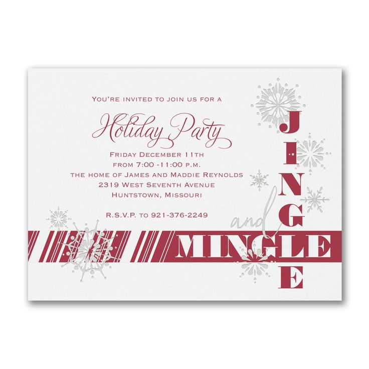 59 best Business Holiday Christmas Invitations images on Pinterest ...