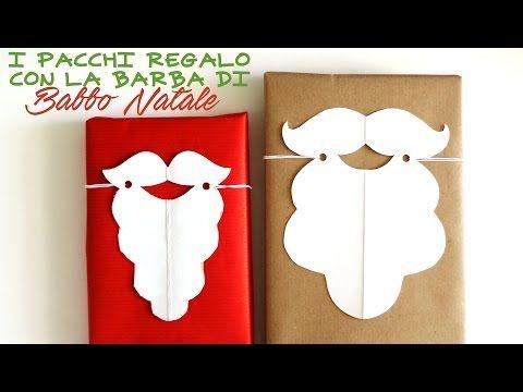 Lavoretti di Natale: pacchetti con la barba di babbo natale - YouTube