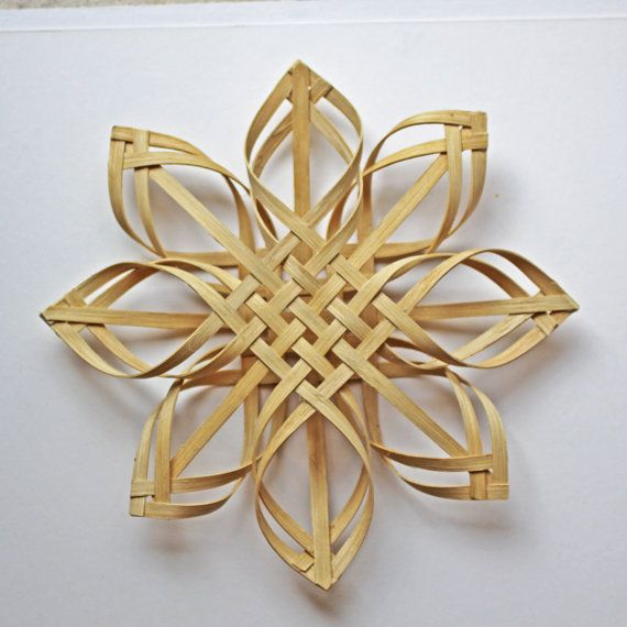 3D Original Large Woven Carolina Snowflake by JustaBunchofBaskets, $30.00