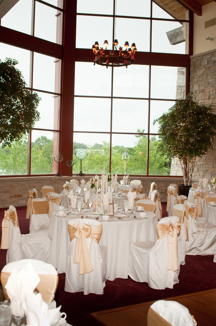 Champagne and Ivory Wedding Reception with DIY