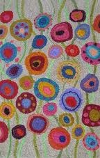 """Reminiscent of """"Summer Garden"""" and """"Spring Garden"""" counted cross stitch designs by Birds of a Feather"""