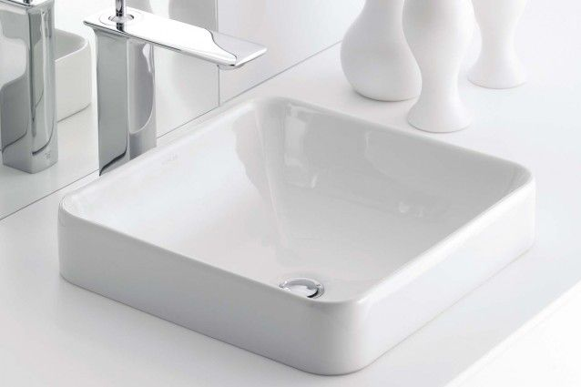 Forefront square countertop basin.