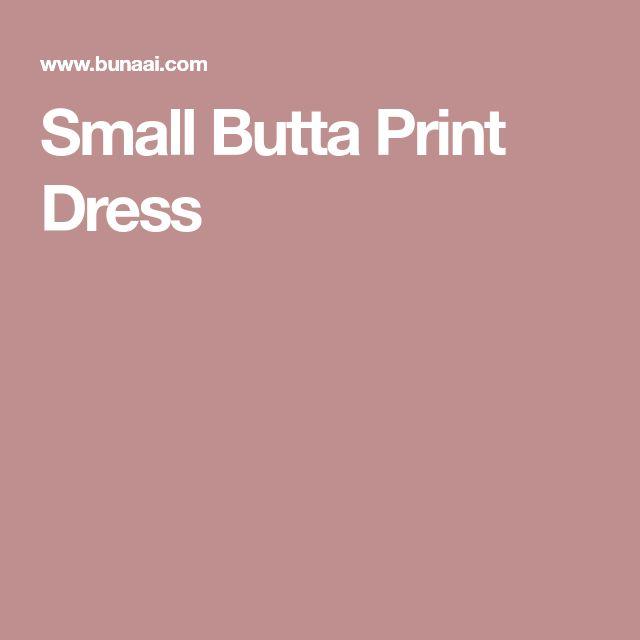 Small Butta Print Dress