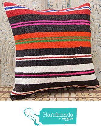 Stripe Pillowcases 16x16 Turkish Rustic Kilim Pillow Sofa Decor Ethnic Pillow cover Tribal Pillow Cover Wool Pillowcases Bohemian Pillow cover Colorful Pillow from Kilimwarehouse http://www.amazon.com/dp/B0198A3COI/ref=hnd_sw_r_pi_dp_JrsCwb04QNJFP #handmadeatamazon