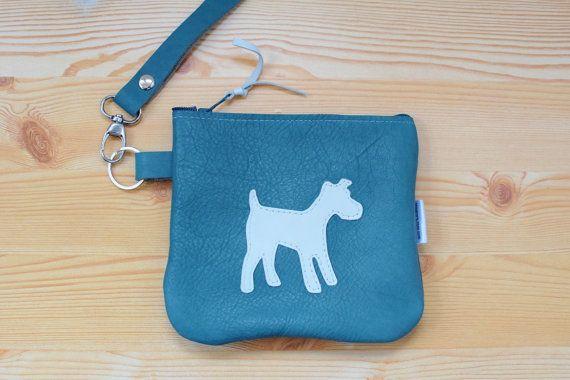 Monedero de cuero,monedero azul,monedero de piel,monedero perro,monedero de perro,perro cuero,neceser cuero,monedero tarjetas,cartera perro