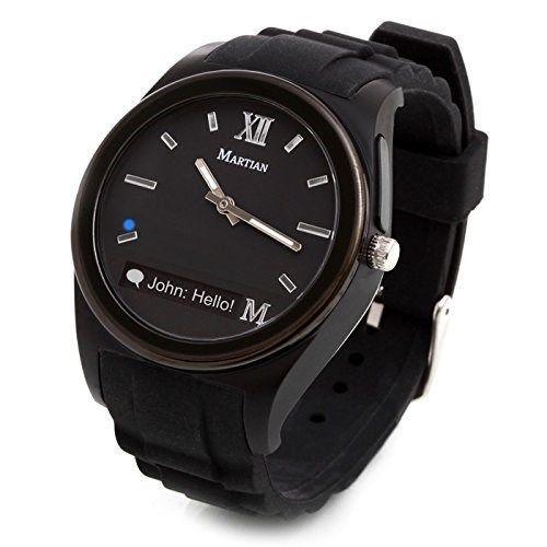 Martian Watches Notifier Smartwatch Black Watch MN200BBB #MartianWatches