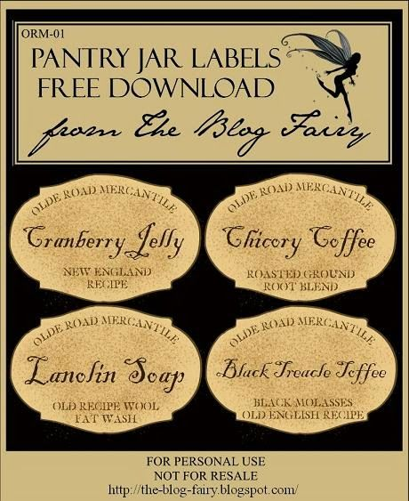 ♥ The Primitive Pantry ♥ Free Labels