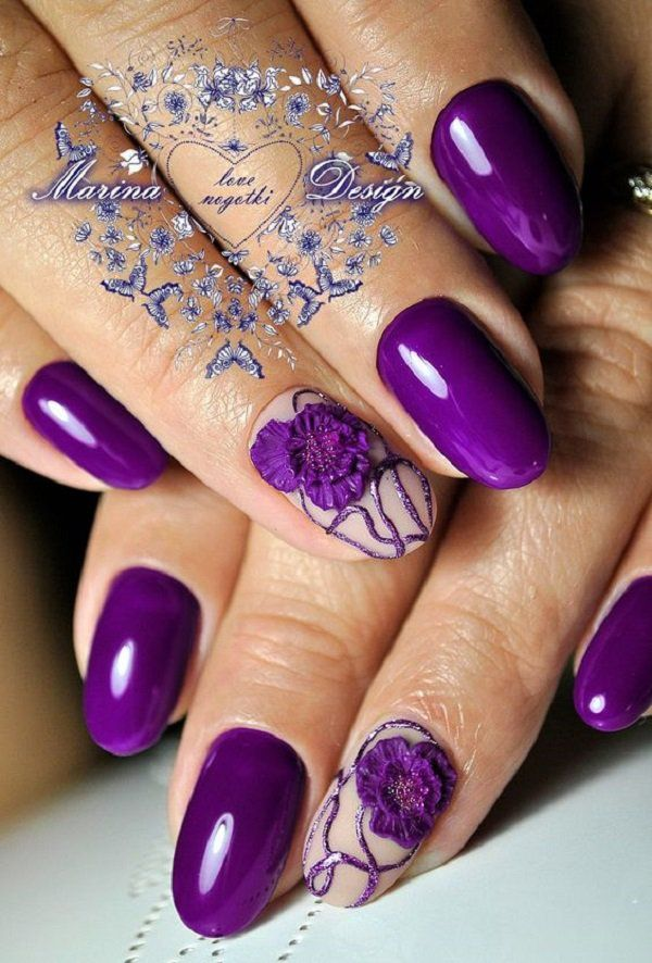 Extravagant purple color is a common choice of young and seductive ladies who know what they want.