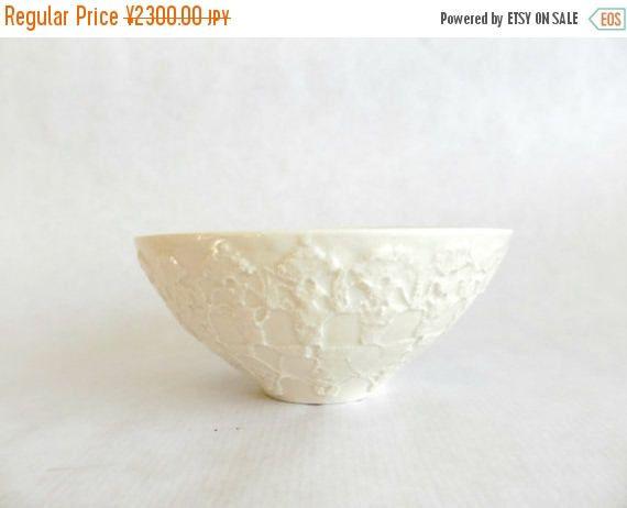 Summer sale Ceramic white lace bowl medium size Rice bowl